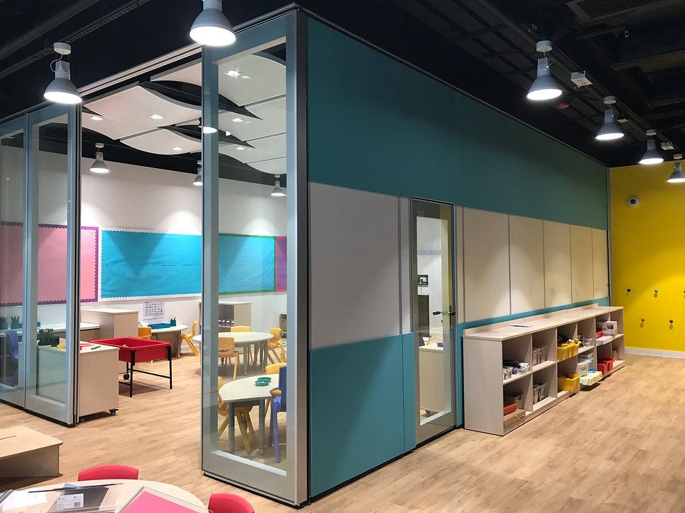 hufcor, glass wall, moveable glass wall, operable wall, Malaysia, display glass, foldable glass