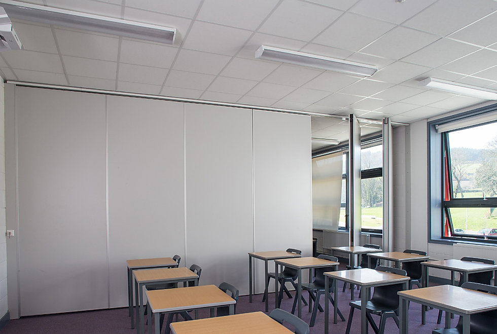 operable and sound insulated partition wall