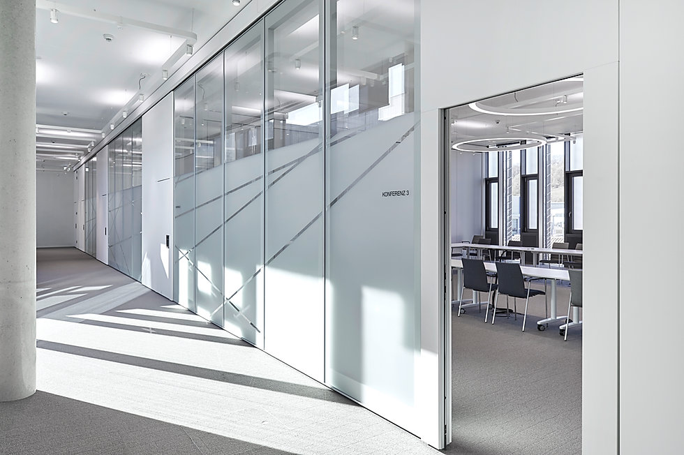 Acoustical glasswall