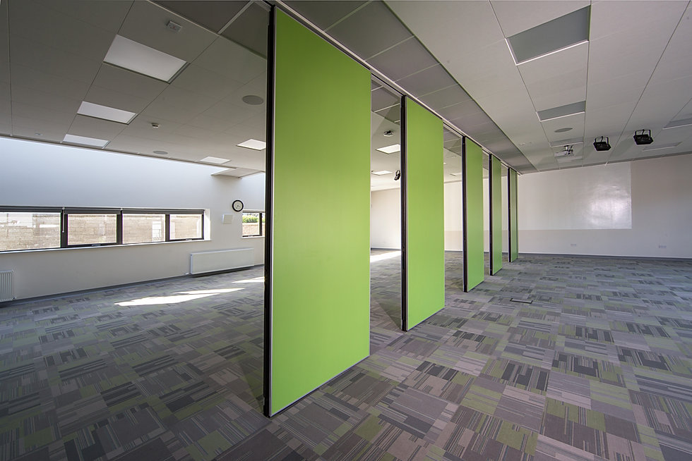 operable partition wall in school space