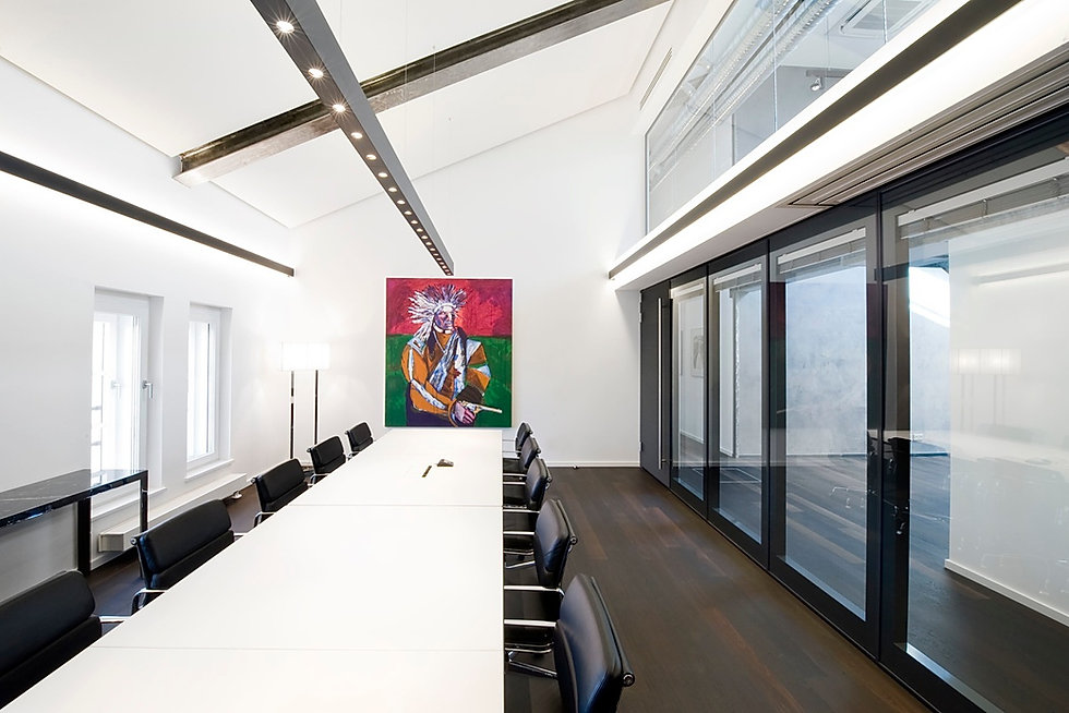 Acoustical glasswall in office space
