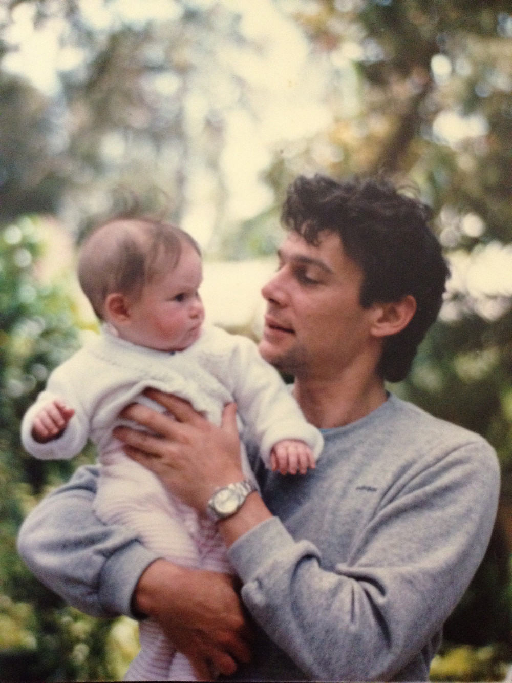My dad and me as a baby! One I stole from the photo box