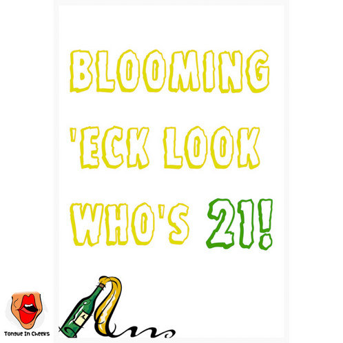 Blooming Eck 21st Birthday Card