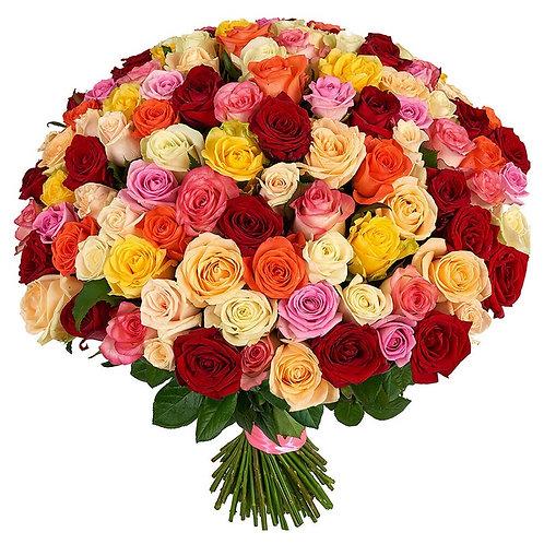 101 микс розы