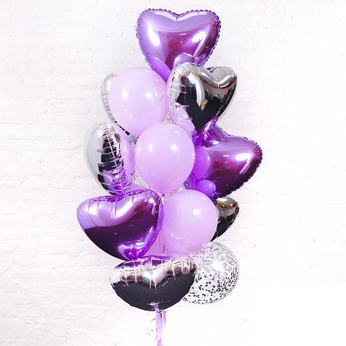набор шаров фиолет