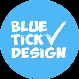 Blue Tick Design Round Logo.png