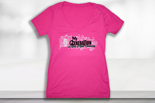 Women's Pink V-Neck