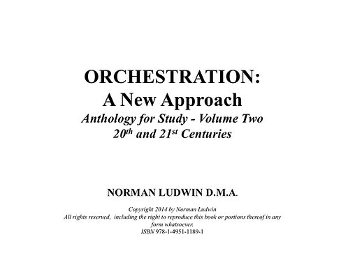Volume Two - 20th and 21st Century Scores