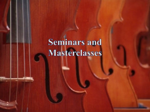Lecture and Masterclasses 2019