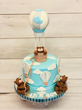 Hot Air Baloon baby showers cake