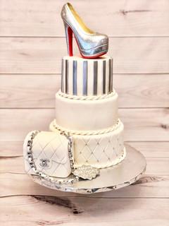 Silver Shoe Cake