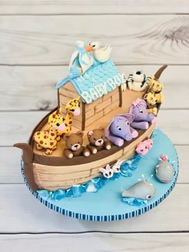Noah`s Ark cake for Baby Shower