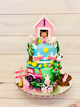 Barnyard Cake for Girl