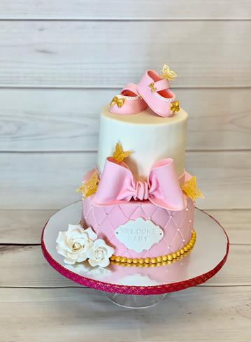 Baby Shower Cake for Baby Girl