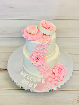 Baby Shower cake with Flowers