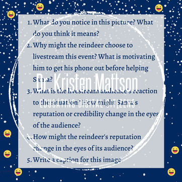 Holiday Themed DigCit Discussion Cards (