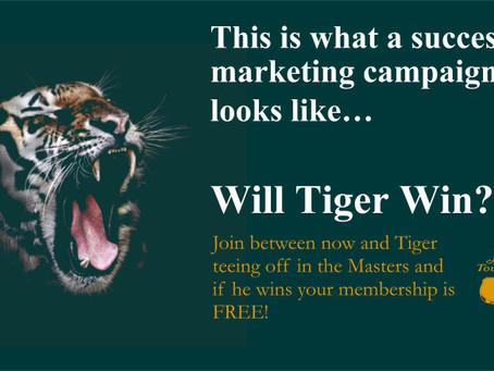 Over €15K in Free Membership thanks to Tiger's memorable Master's win