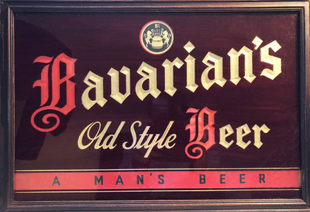 Bavarian's Old Style Beer Mirror Sign, Covington, KY.