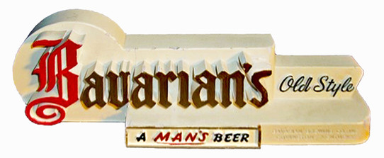 Bavarian's Old Style Miser Shelf Sign, Bavarian Brewing Co., Covington, KY