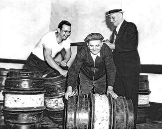 Metal Beer Barrels, Bavarian Brewing Co., Covington, KY