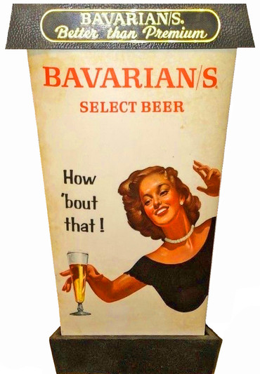 Bavarian/s Select Beer Lantern by IBI; Woman & Glass Side.