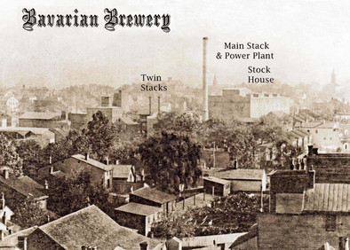 The Bavarian Brewery and its Stacks, Covington, KY  c. 1905