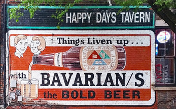 Outdoor Sign of Things Liven Up with Bavarian/s the Bold Beer