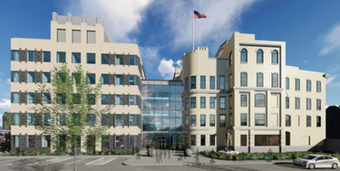 Kenton Co. Governement Center Rendering, West (Front) Side, Covington, KY