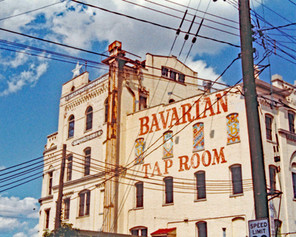 The Former Bavarian Brewery Brew & Mill Houses Repainted for the Bavarian Tap Room