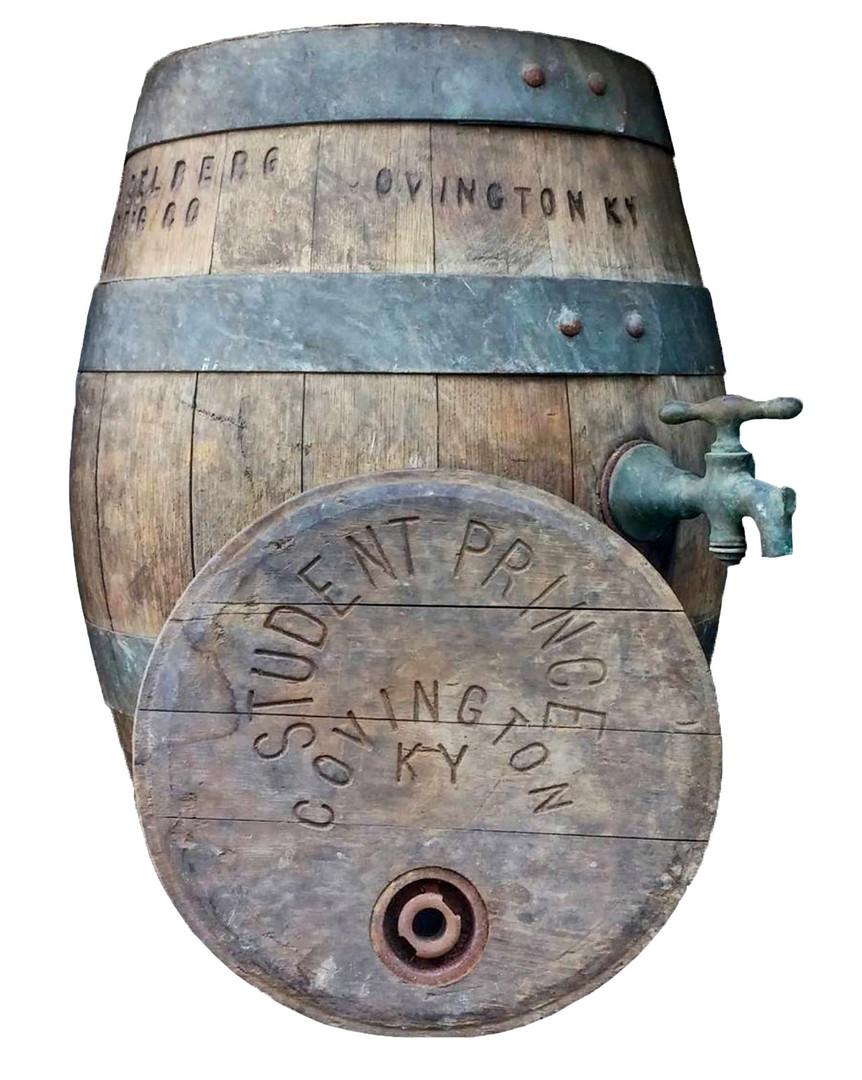 Student Prince Wood Beer Barrel, Heidelberg Brewing Co., Covington, KY