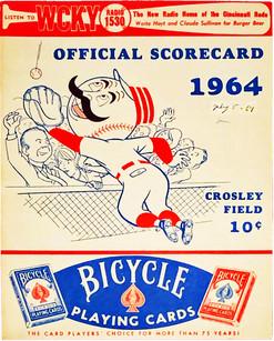 Reds-Cardinals 7-5-1964 Program Cover 1.