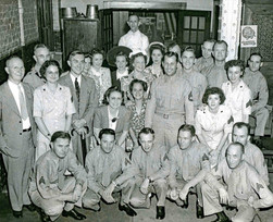 WWII Service Men & Women at the Tap Room, Bavarian Brewing Co., Covington, KY
