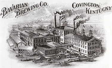 Lithograph of the Bavarian Brewing Co. on a Postcard, Covington, KY.