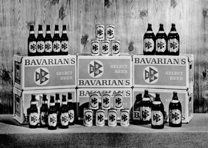 Bavarian's Select Beer Product Line Display in 1957, Covington, KY.