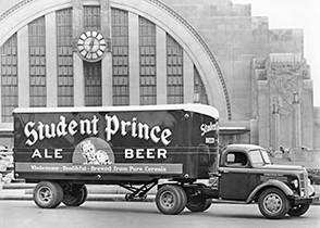 Student Prince Truck at Union Station, Cincinnati, OH.