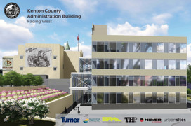 New Kenton County Administration Building Rendering, West and Back Side,, Covington, KY
