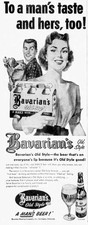 To a man's tast and hers, too! Ad by the Bavarian Brewing Co., Covington, KY.