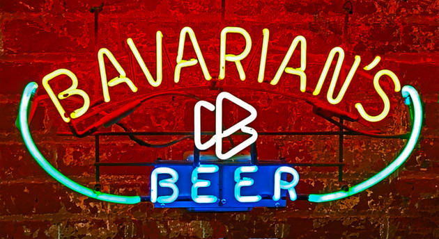 Bavarians Select Beer Three Flag Neon Sign, No Dashes, Covington, KY