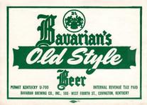 Bavarain's Old Style U Permit KY Keg Label