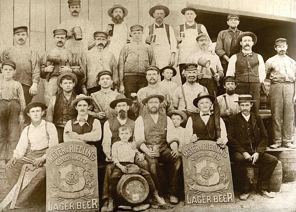 Bavarian Brewery / Meyer & Riedlin Workers, 1884.