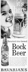 The BAVARIAN GIRL Boch Beer Ad - for Bavarian's Select Beer.