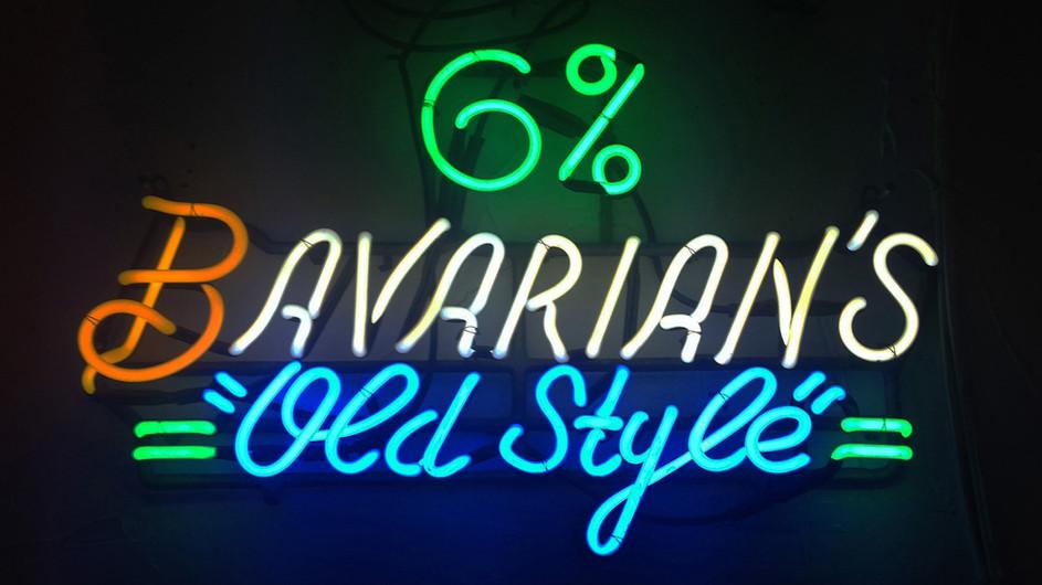 Bavarian's Old Style Neon 6% Sign, Covington, KY.