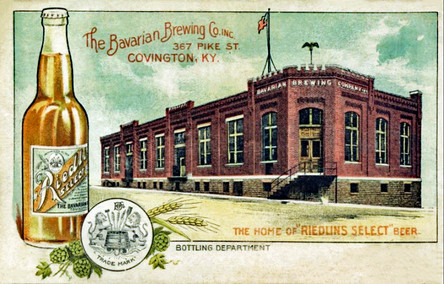 Riedlin Select Beer Postcard of the Bottling Plant, Bavarian Brewing Co., Covington, KY.