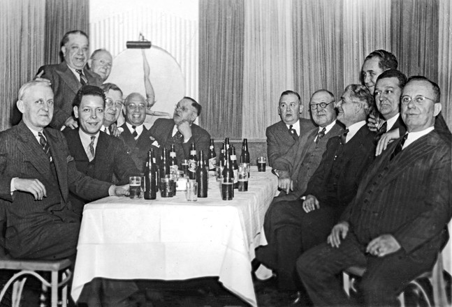 A Gathering of Men, including Will and Lou Schott, c. Early 1940s.