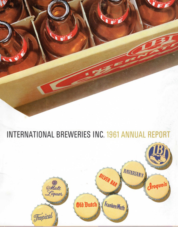 1961 Annual Report Cover, International Breweries Inc.