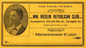 Wm. Riedlin Republican Club Mebership Ca