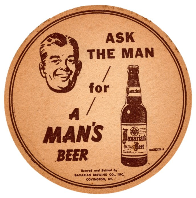 Bavarian Lg Coaster A Mans Beer Brown.jp