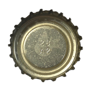 Crown -Edge with Plastic, Center with Clear Protective Layer Over Metal