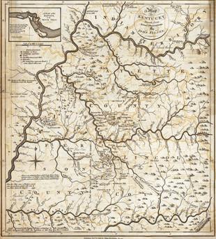 1784 Map of Kentucky by Filson.
