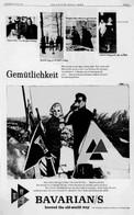 The BAVARIAN GIRL - Gemütlichkeit Ad for Bavarian's Select Beer.